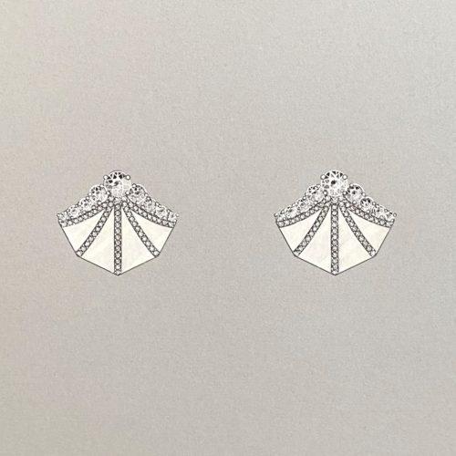 Carlu Earrings Gouache Illustration