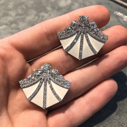 Carlu Earrings in hand