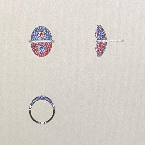 Dell'Arte Gouache Illustration