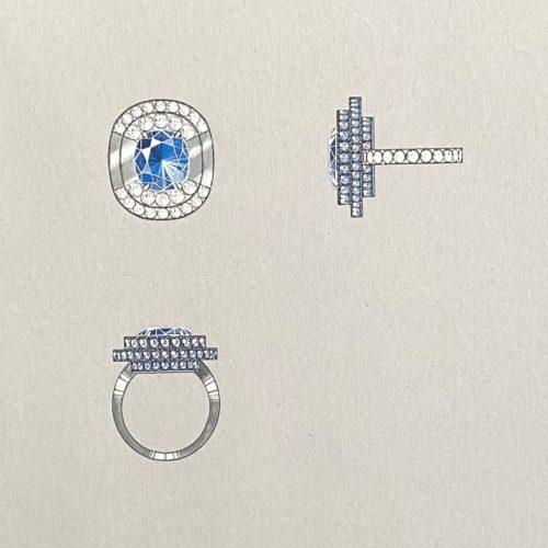 Kashmir Ring Illustration