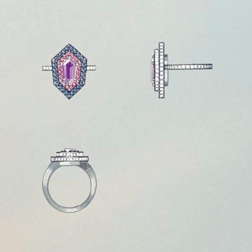 Kite Ring ouache Illustration